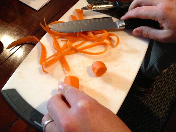 peeled carrots