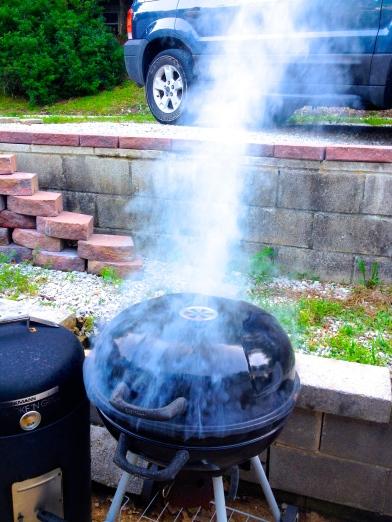 grill smoking