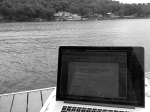 writing on the dock