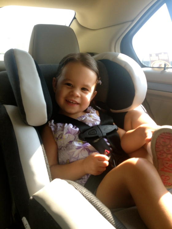 Ella in the car