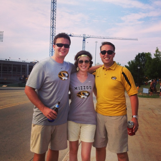 Trenton, Libby and P at Mizzou v. Murray St.